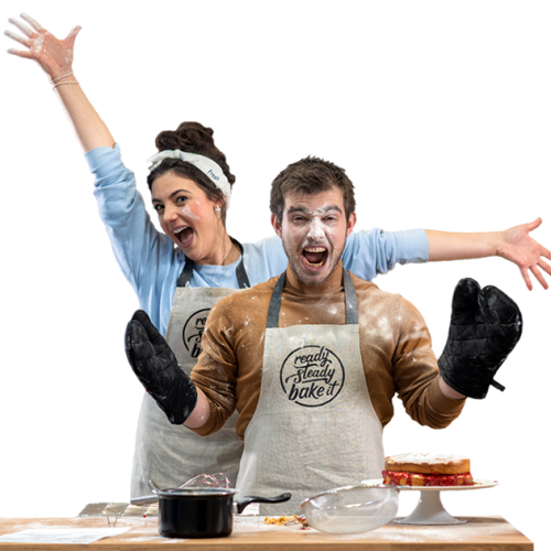 Couple baking clear background